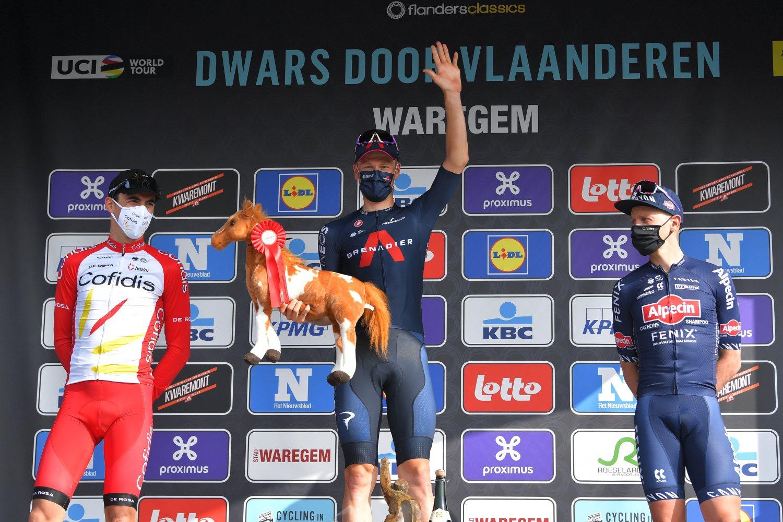 A Través de Flandes 2021 podio