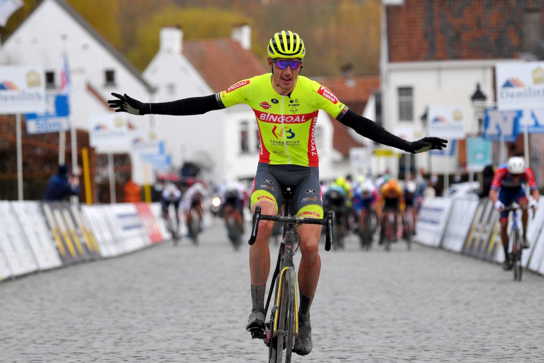 Ludovic Robeet ganó la Nokere Koerse 2021 (Luc Claessen/Getty Images).