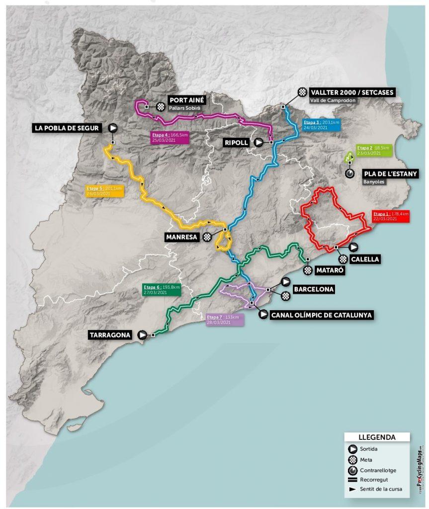 Recorrido Volta a Cataluña 2021