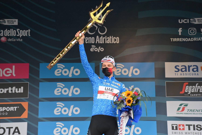Tadej Pogacar ganó la Tirreno - Adriático 2021 (LaPresse).