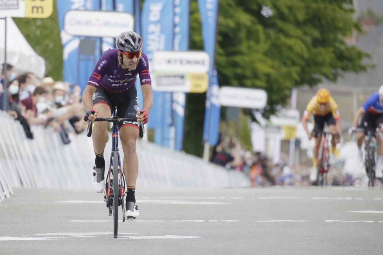 Diego Rubio acabó segundo en al primera etapa de Boucles de la Mayenne 2021 (Álvaro García).
