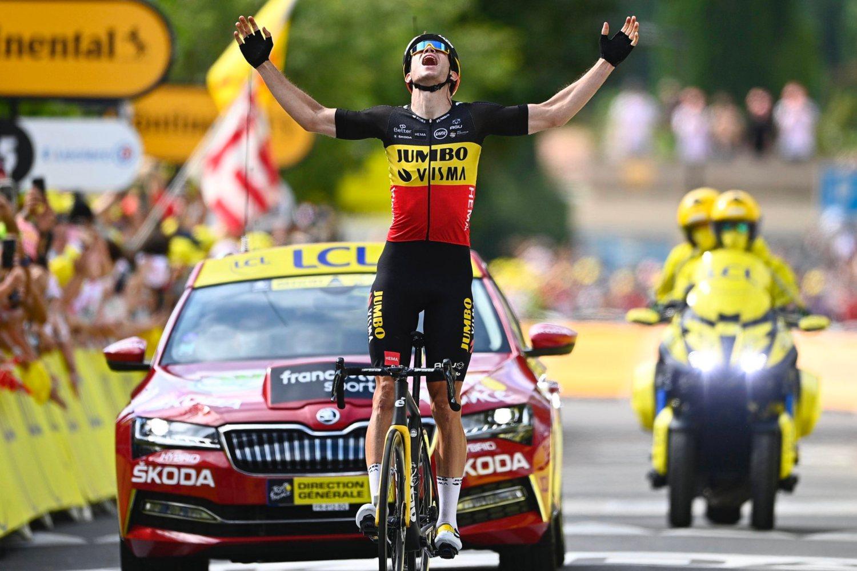 Wout Van Aert ganó la etapa 11 del Tour de Francia 2021 (Jumbo).