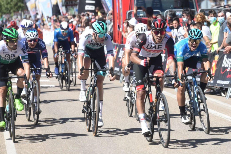 Juan Sebastián Molano ganó la segunda etapa de la Vuelta a Burgos 2021 (Ricardo Ordoñez).
