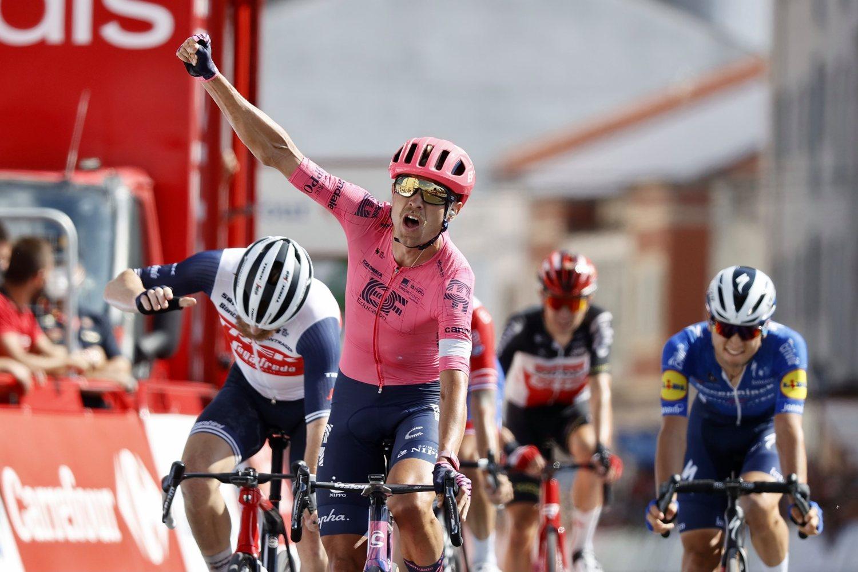 Magnus Cort Nielsen ganó la etapa 19 de la Vuelta a España 2021 (Photo Gomez Sport).